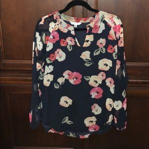 Cabi floral blouse, medium